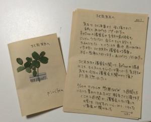 ピリカ手紙